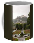 Tourists Enjoy A Rainy Day Coffee Mug by Taylor S. Kennedy