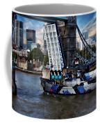Tower Bridge And Boat Coffee Mug