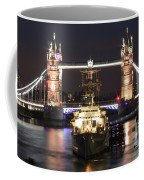 Tower Bridge And Hms Belfast Coffee Mug