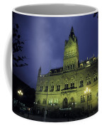 Town Hall At Night In Manchester Coffee Mug