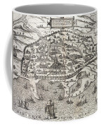 Town Map Of Alexandria In Egypt Coffee Mug by Unknown