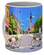 Town Of Bicycles Koprivnica Street View Coffee Mug