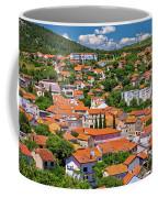 Town Of Drnis And Dalmatian Inland Panorama Coffee Mug