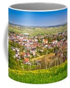 Town Of Ivanec Aerial Springtime View Coffee Mug