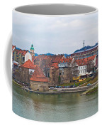 Town Of Maribor Riverfront Panoramic  Coffee Mug