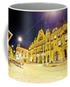 Town Of Ptuj Historic Main Square Evening View Coffee Mug