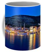 Town Of Vis Waterfront Evening Panorama Coffee Mug