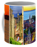 Town Of Zadar Evening And Sunset Travel Collage Coffee Mug