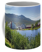 Town Square By The Pond At Waterville Valley Coffee Mug