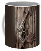 Toy Gun And Ranger Badge Coffee Mug