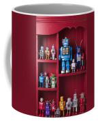Toy Robots On Shelf  Coffee Mug by Garry Gay