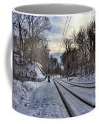 Tracks Into The Sunset Coffee Mug
