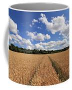 Tracks Through Wheat Field Coffee Mug