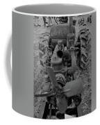 Tractor Bw Coffee Mug