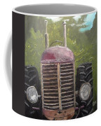 Tractor In The Garden Coffee Mug
