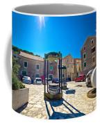 Traditional Dalmatian Town Of Tisno Square Coffee Mug