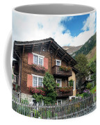 Traditional Swiss Alps Houses In Vals Village Alpine Switzerland Coffee Mug