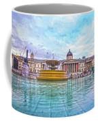Trafalgar Square Fountain London 8 Coffee Mug