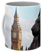 Trafalgar Square Lion With Big Ben Coffee Mug