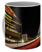 Traffic Racing Over Zakim Bridge Coffee Mug