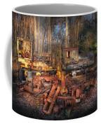 Train - Yard - Do It Yourself Kit Coffee Mug by Mike Savad