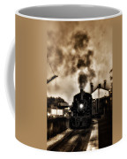 Train Coming In The Station Coffee Mug