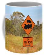 Train Engine Locomotive Sign Coffee Mug