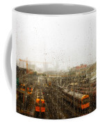 Train In The Rain Coffee Mug