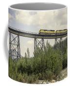 Train On Trestle Coffee Mug