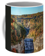 Train Over Letchworth Coffee Mug