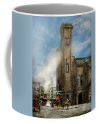Train Station - Look Out For The Train 1910 Coffee Mug