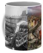 Train Station - Wuppertal Suspension Railway 1913 - Side By Side Coffee Mug