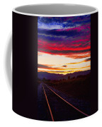 Train Track Sunset Coffee Mug by James BO  Insogna