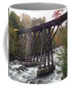 Train Tracks Over The Winnipesaukee River Coffee Mug