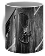 Train Vandalized Black And White Coffee Mug