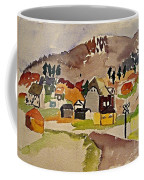 Train Whistle Stop Village  Coffee Mug
