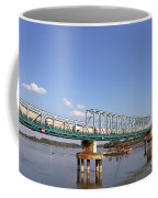 Train With Tank Wagon On Bridge Coffee Mug