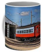 Trains Chicago Aurora Elgin Trolley Car 409 Coffee Mug