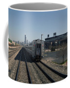 Trains Passing The Home Of The Chicago White Sox Coffee Mug