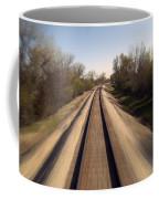 Trains Power Approaching The Crossing Coffee Mug