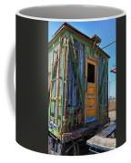 Trains Wooden Box Car Yellow Door Coffee Mug
