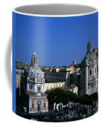 Trajan's Column Church Of Santa Maria Di Loreto Church Of Our Lady Giclee Rome Italy Coffee Mug