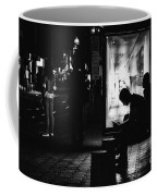 Tram Station Silhouettes Coffee Mug
