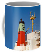 Tramp Steamer Unloading Coal At Port Canaveral In Florida Coffee Mug