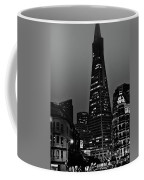 Trans American Building At Night Coffee Mug