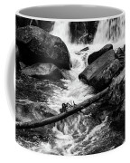Trap Falls In Ashby Ma Black And White 9 Coffee Mug