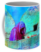 Travel Exotic Woman On Ramparts Mehrangarh Fort India Rajasthan 1e Coffee Mug
