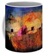 Travel Exotic Woman On Ramparts Mehrangarh Fort India Rajasthan 1h Coffee Mug