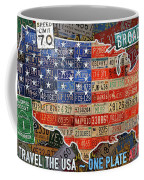 Travel The Usa One Plate At A Time License Plate Art By Design Turnpike Coffee Mug