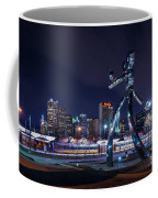 Traveling Man Stepping Out After Dark Coffee Mug